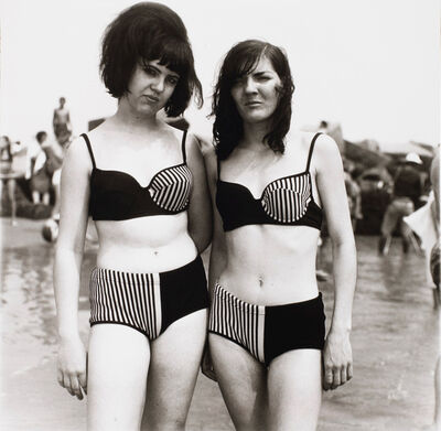 Diane Arbus, 'Two Girls in Matching Bathing Suits, Coney Island, N.Y.', 1967