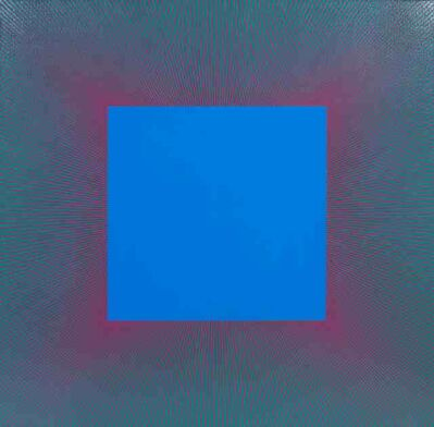 Richard Anuszkiewicz, 'Blue Square with Red & Green', 1979