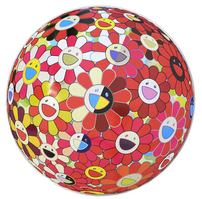 Takashi Murakami, 'Flowerball Red (3D) The Magic Flute.', 2009