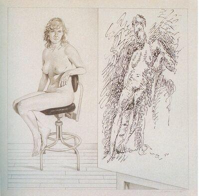 Mel Ramos, 'Drawing lesson no. 5', 1990