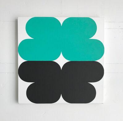 Linda Daniels, 'Turquoise-Green (Black with White)', 2017