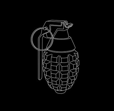 Michael Craig-Martin, 'Hand Grenade from Quotidian', 2017
