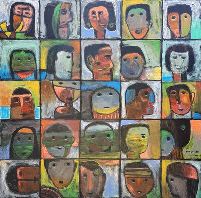 Nabil Anani, 'Faces', 2016