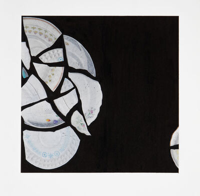 Alana Roth, 'Euclid's elements: definition 18. A semicircle is the figure contained by the diameter and the circumfer- ence cut off by it. And the center of the semicircle is the same as that of the circle.', 2012-2013