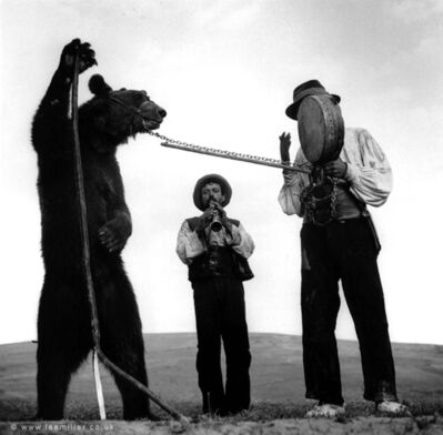 Lee Miller, 'Dancing bears with gypsy trainers, Romania', 1938