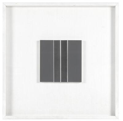 Getulio Alviani, 'Superficie a struttura vibratile (studio)', 1972