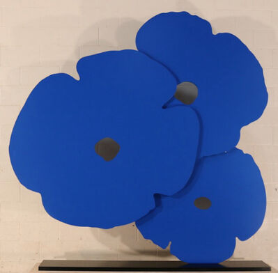 Donald Sultan, 'Big Blue Poppies, 2015', 2015