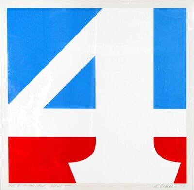 Robert Indiana, 'The American Four', 1970