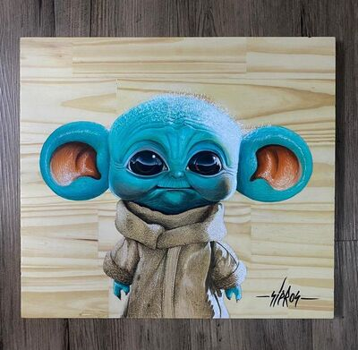 Sipros, 'Baby Yoda with big ears', 2021