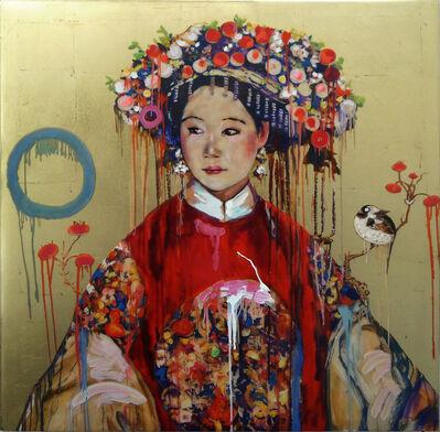 Hung Liu 刘虹, 'Manchu Bride - Gold Study I'