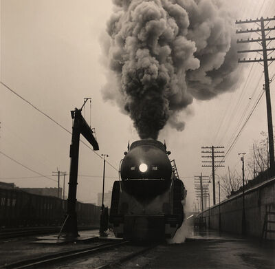 O. Winston Link, 'The Cavalier Leaves Williamson, West Virginia on a Rainy Day (NW 2024)', 1958