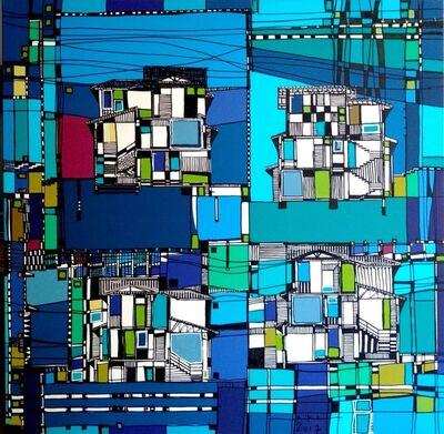 Kika Marciano, 'Blue Houses', 2017