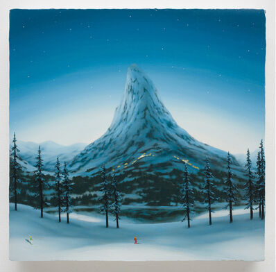 Dan Attoe, 'Mountains with Skiers 6', 2015