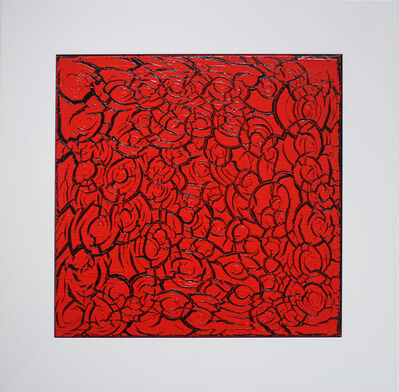 Ed Moses, 'Red Over Black', 2013
