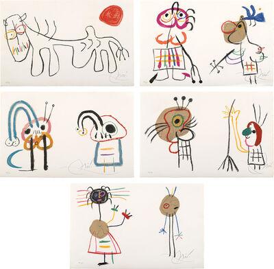 Joan Miró, 'L'Enfance d'Ubu (Ubu's Childhood): 10 plates (M. 998-9; 1006; 1014; 1019-20, see C. 204)', 1975
