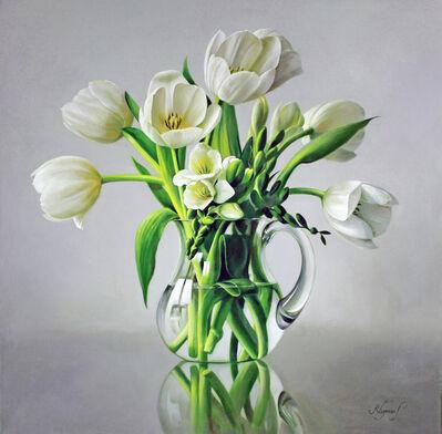 Pieter Wagemans, 'White Tulips'