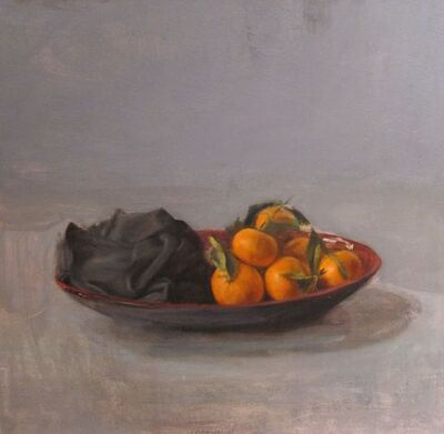Leticia Feduchi, 'Still life with tangerines and black canvas', 2005