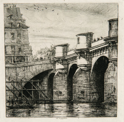 Charles Meryon, 'Two Impressions of Le Pont Neuf', 1853