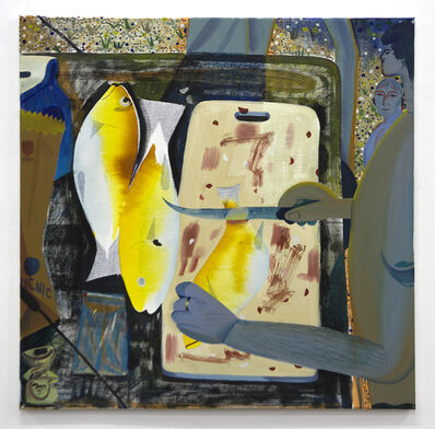 Louis Fratino, 'Nick Cleaning Fish', 2016