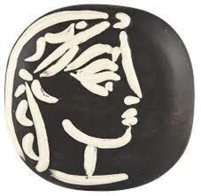 Pablo Picasso, 'Madoura Ceramic Plate - Jacqueline's profile, Ramié 385', 1950-1959