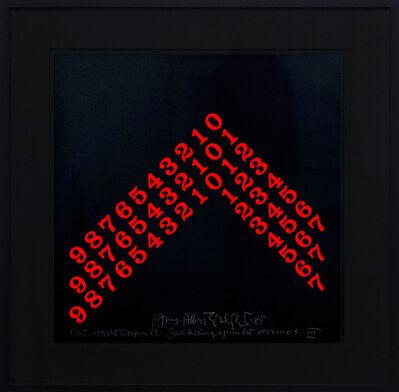 Hans-Albert Walter, 'Countdown in rot', 1994