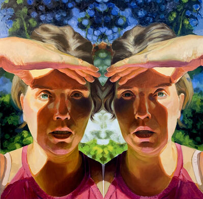 Ellen Starr Lyon, 'Looking to the Future with Trepidation', Oil on panel