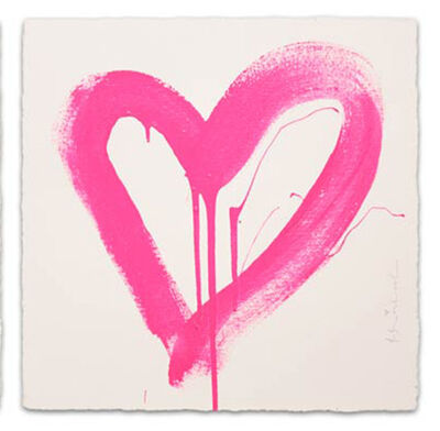 Mr. Brainwash, 'LOVE HEART (PINK)', 2017