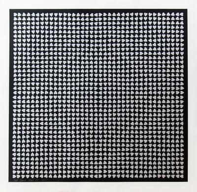 Burton Kramer, 'Silver Hearts 35 of 125', 1974
