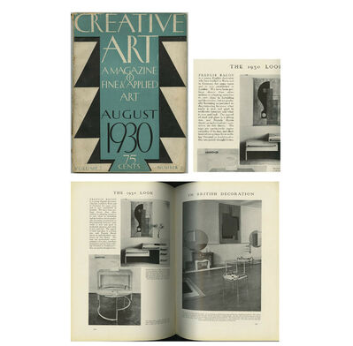 "Francis Bacon, '""The 1930 Look in British Decoration"" (article Francis Bacon- As Young Interior Designer), 1930, Creative Art Magazine', 1930"