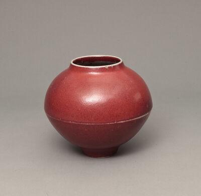 Robert Deblander, 'Vase rond à arête rouge', ca. 1980