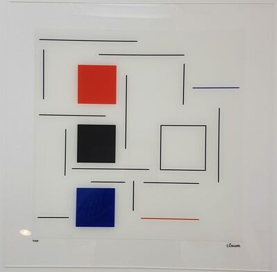 Geneviève Claisse, 'Untitled (White, Red, Blue. Black)', 2016