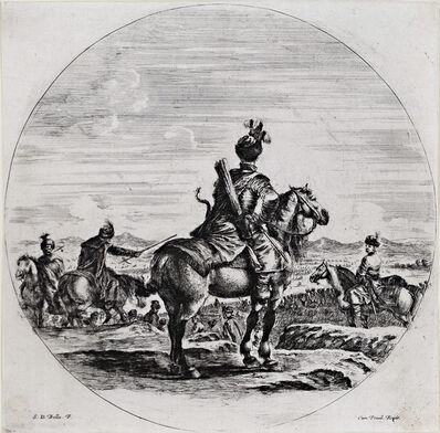 Stefano Della Bella, 'Polish Horseman Seen from the Back', 17th Century