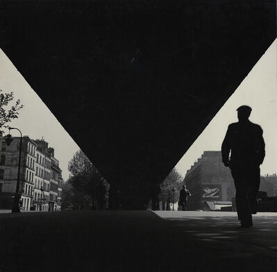 Albert Monier, 'Man and Bridge (or Pont), Paris', 1950s/1950s
