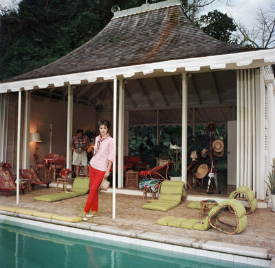 Slim Aarons, 'Family Snapper: Babe Paley and William Paley at their cottage in Round Hill, Jamaica', 1959