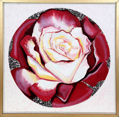 Lowell Nesbitt, 'Red and White Rose', 1982