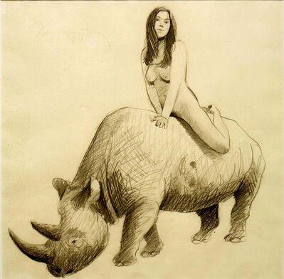Mel Ramos, 'Rhinocerous', 1970