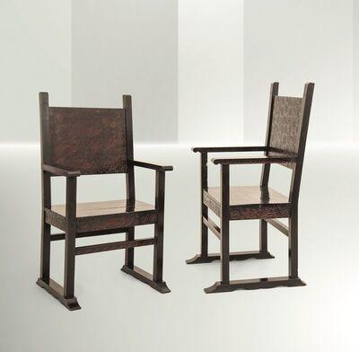 Vittorio Zecchin, 'two armchairs, Italy', 1923