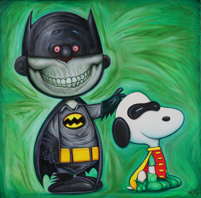 Ron English, 'Batman and Snoopy', 2019