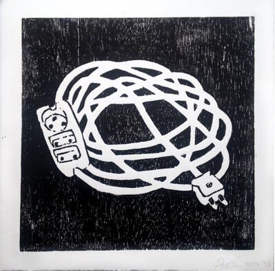 Rose Eken, 'Cable In Black And White', 2015