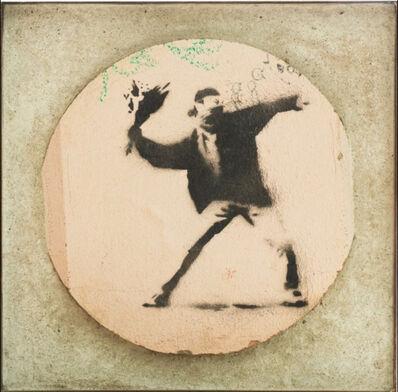 Banksy, 'Flower Thrower (Wall)', ca. 2008