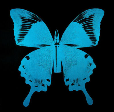 Rubem Robierb, 'Blue Bullet Fly on Black N - 1', 2015