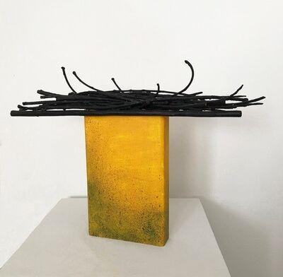 Barbara Korman, 'Detritus Monolith Yellow', 2018