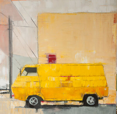 Ruth Shively, 'Yellow Van with Yellow Building', 2016