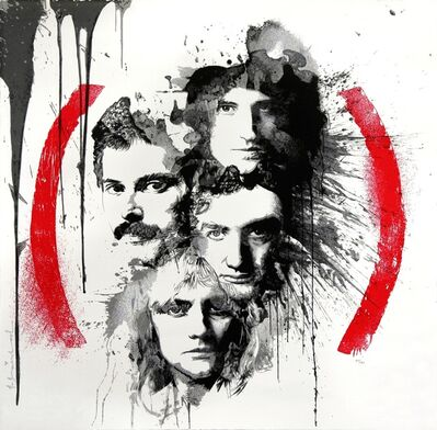 Mr. Brainwash, 'Queen Product (RED)', 2014
