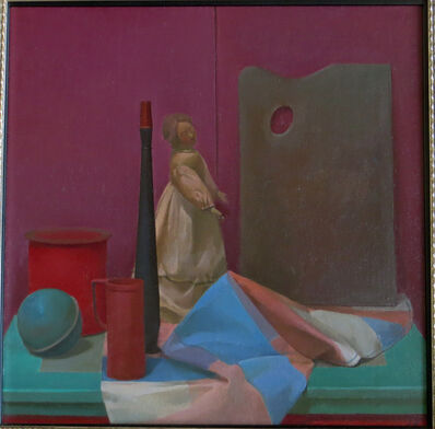 Langdon Quin, 'Still Life with Figure, Red Arrangement', 1984