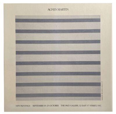 Agnes Martin, 'Agnes Martin New Paintings ', 1985
