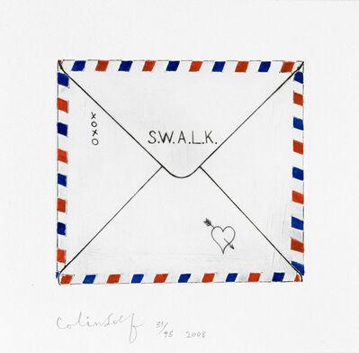 Colin Self, 'Sweetheart Letter - S.W.A.L.K', 2008