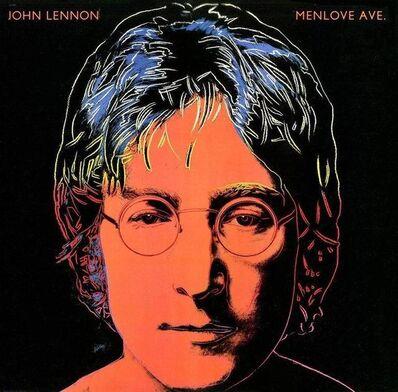 Andy Warhol, 'John Lennon Vinyl Record Art (Framed), 1986', 1986