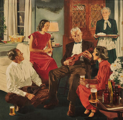 Douglass Crockwell, 'The Family Gathering, Beer Belongs Advertisment', 1941