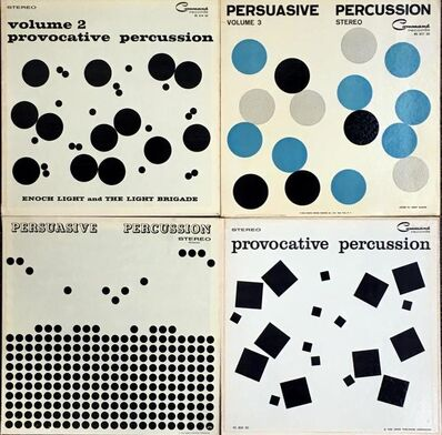 Josef Albers, 'Josef Albers 1950s vinyl record art (set of 4)', ca. 1959